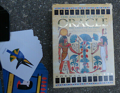 TAROT THE ANCIENT EGYPTIAN ORACLE THE CARDS OF RA-MAAT by NORMAN PLASKETT W/BOOK