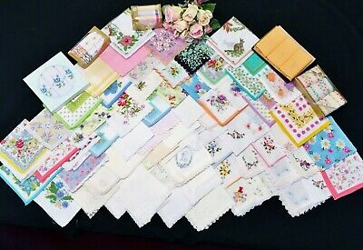 Over 80 Assorted Handkerchiefs in Various Colours & Patterns