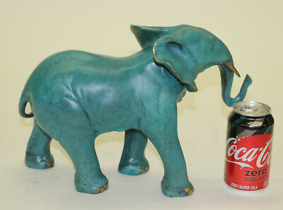 100% Solid Bronze Limited Edition Museum Quality Classic Elephant Artwork Sculpt
