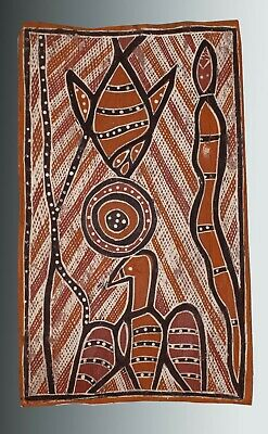 Aboriginal bark painting collected 1968