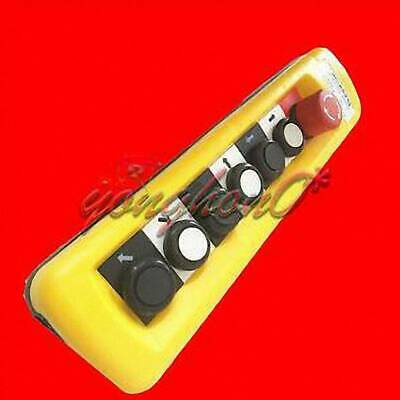 XAC-A6913 Pendant Control Station Crane 6 Pushbutton Switch Emergency Stop COB