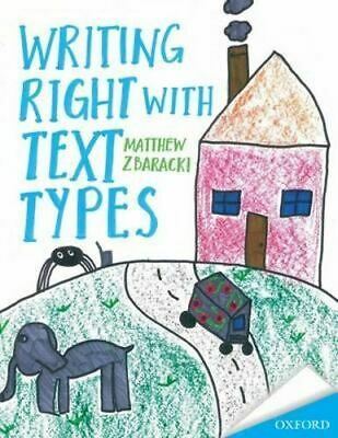 NEW Writing Right with Text Types By Matthew Zbaracki Paperback Free Shipping