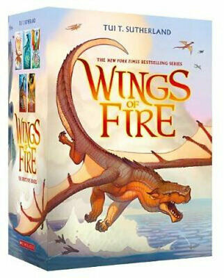 NEW Wings of Fire 1-5 Boxed Set By Tui T. Sutherland Paperback Free Shipping