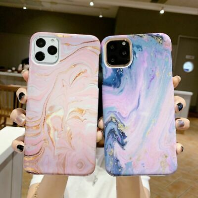 For iPhone 11 Pro Max XS XR 8 7 6 Plus Case Shockproof Tough Marble Hard Cover