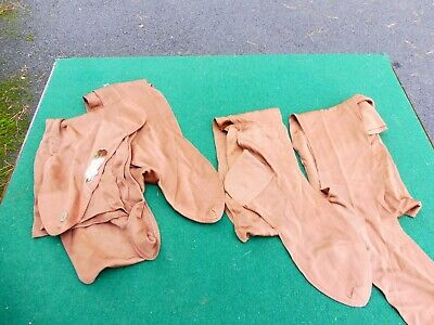2 pairs of 1930's rayon and silk mix seamed stockings true vintage!