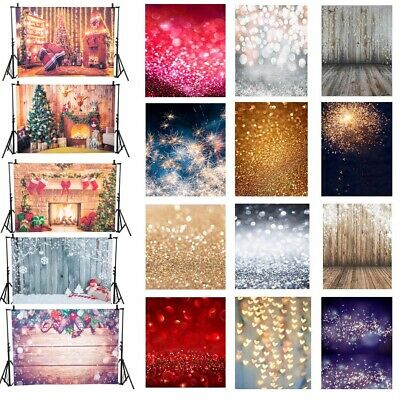 5*3ft/5*7ft Christmas Bauble Backdrop Abstract Wooden Photography Background YJ