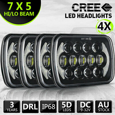 4PCS HILUX LED UPGRADE HEAD LIGHT 5X7INCH HEADLIGHT REPLACEMENT High Low Beam H4