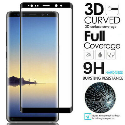 For Samsung Galaxy S9 S8 Plus - FULL COVER 3D Tempered Glass Screen Protector