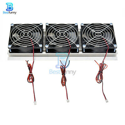 180W Semiconductor Refrigerator Peltier Water Radiator With 3 Cooling Fan Device
