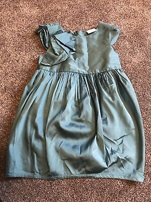 Girls Age 3 Green Blue Turquoise Dress From Next Occasion Wedding Smart Dress