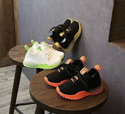 Boys Breathable Mesh Sports Sneakers Running Comfortable Shoes