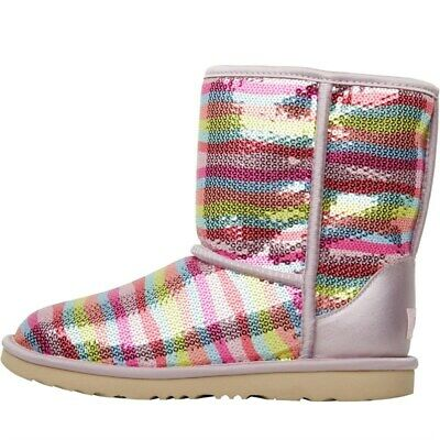 UGG Infant Girls Classic Short II Mural Boots Rainbow