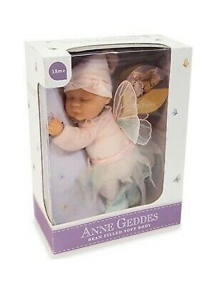 ANNE GEDDES 'Baby Fairy' Bean Filled Soft Doll - New in Box
