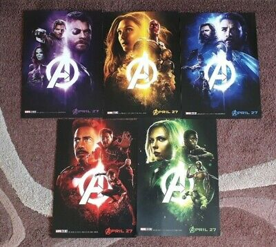5 Alternative Marvel Avengers Infinity War Character Movie Film Posters A4
