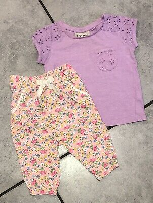 Next Baby Girls Outfit 3-6 M Top & Harem Trousers
