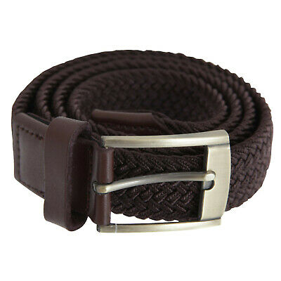 Forests Belts Mens Elasticated Webbed Belt Trimmed With Real Leather size L