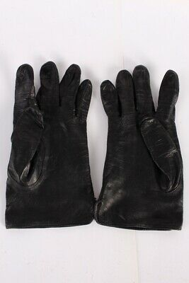 Vintage Leather Gloves  Womens Fahion Classic Design Size 7 Black - G80