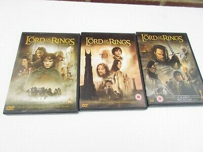 LORD OF THE RINGS TRILOGY DVD X3 COMPLETE SERIES TOLKIEN region 2 (UK)
