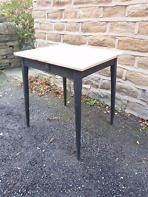 Vintage Antique Retro Small Console Dining Table Wooden Black Shabby Chic Rustic
