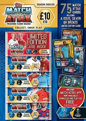 Topps Match Attax - Mega Multi-Pack, 19/20 - 75 Cards, UK Edition