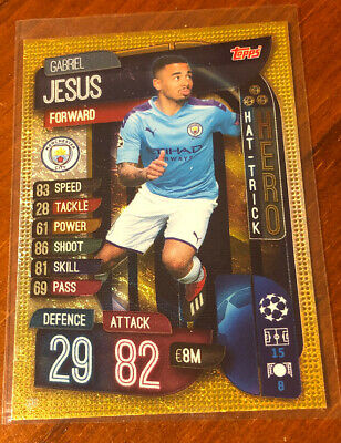 Match Attax Champions League 19/20 – Jesus Man City Hat-Trick Heroes No. 316