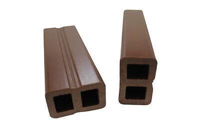 PlasPro Composite Anti-rot Recycled Plastic Post Decking 100mm x 100mm x 3000mm