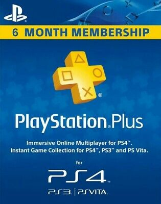 PSN 6 Month PlayStation PS Plus PS4-PS3 (NO CODE) (WORLWIDE)