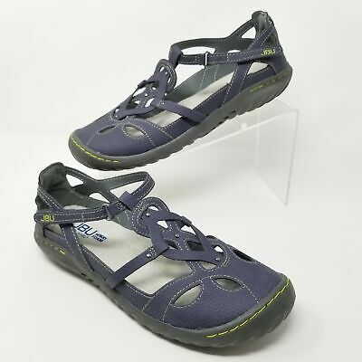 JBU by Jambu Sydney Womens Flat Sandals Memory Foam Blue Sizes 9 10