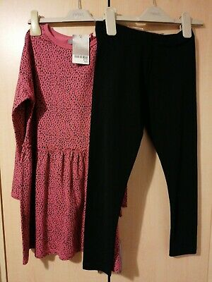NEW NEXT £17 Girl Next Outfit - Dress & Leggings Set Age 9 Years