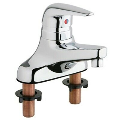 Chicago Faucet 420-CP Single Lever Hot  Cold Water Mixing Sink bathroom CHROME