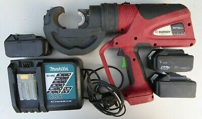 Burndy PAT750-LI 12 Ton Cordless Battery Operated Hydraulic Crimping Tool