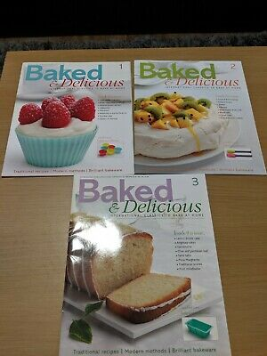 Baked and Delicious Magazines 1 - 3 Read but are in a very good condition