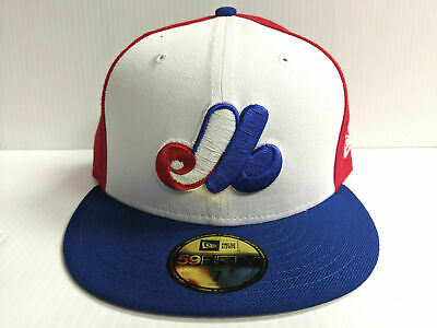 Montreal Expos New Era 59Fifty Cap Flat Brim Cooperstown Wool Fitted Hat