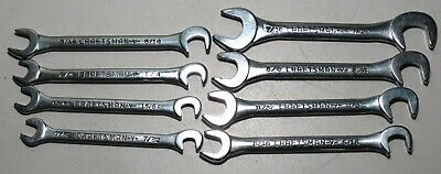 Vintage Craftsman -V-  SAE open end ignition wrenches 8 Pc. Made USA