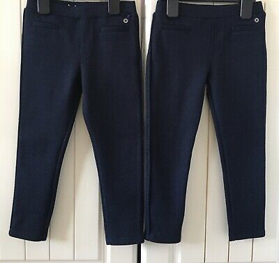 Gorgeous Twin Girls Navy Trousers From Jasper Conran At Debenhams Age 4-5yrs VGC