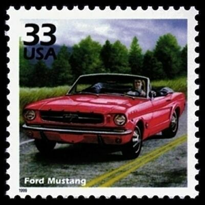 Ford Mustang 17 Year Old Mint Collectible US Stamp from 1999