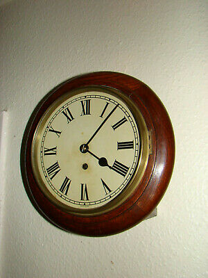 """Small dial school wall clock 8 day empire make 7"""" dial 1931 gwo not fusee"""