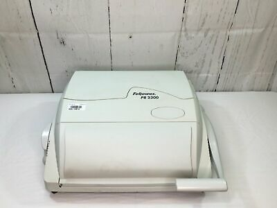 Fellowes PB 2300 Manual Comb Binding Binder Machine