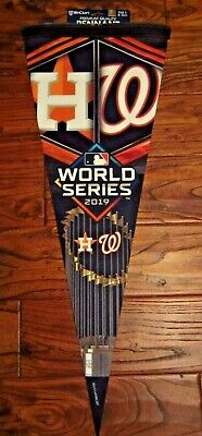 """2019 World Series Roll Up Pennant NEW MLB 12"""" x 30"""" Nationals vs Astros"""