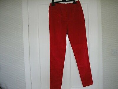Boden girls red cord leggings skinny trousers age 16 years