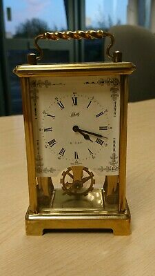 Fab Vintage Schatz West Germany 8-Day~2 Jewels Mechanical Carriage Clock Tested