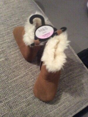 Baby Girls Marks And Spencer Boots Size 3-6 Months