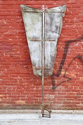 Antique Windmill Tail Fin Vtg Metal Large Farm house decor rustic primitive barn