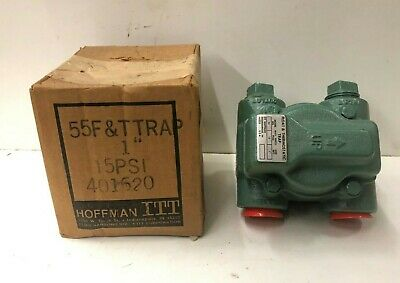 ITT Hoffman Float & Thermostatic Steam Trap 55, 15 PSI, 1""