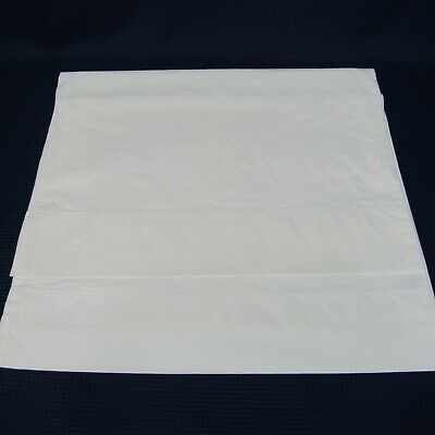 Pair Vintage Penneys Percale Vintage Standard Pillowcases White 31 x 20.5