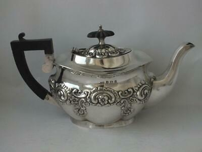 Dainty Antique Embossed Solid Sterling Silver Teapot 1905/ L 22.2 cm/ 309 g
