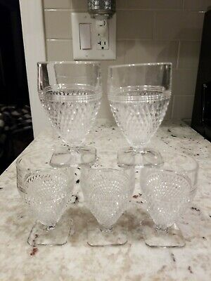 """Cambridge Mt Vernon - Set Of 5, 3-1/4"""", 2 Ounce Footed Tumblers"""
