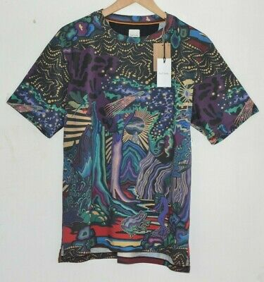 PAUL SMITH DREAMER Midnight Print cotton T-shirt Tshirt L tee shirt top LARGE