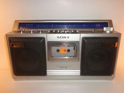 Sony Cfs-43 Am/Fm/ Radio & Stereo Cassette - Radio Works - Tape Does Not Work