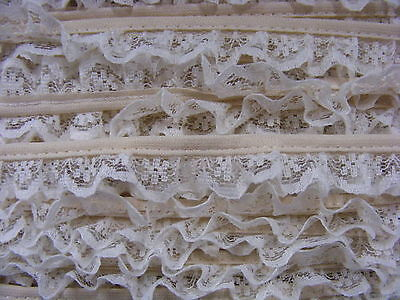 Gathered Narrow Beige Lace 8 meters (207/134)